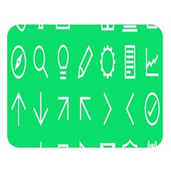 Icon Sign Green White Double Sided Flano Blanket (large)  by Alisyart