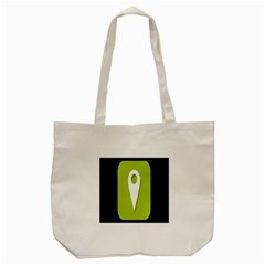 Location Icon Graphic Green White Black Tote Bag (cream) by Alisyart