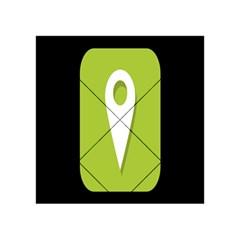 Location Icon Graphic Green White Black Acrylic Tangram Puzzle (4  X 4 ) by Alisyart