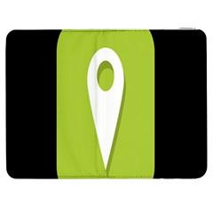Location Icon Graphic Green White Black Samsung Galaxy Tab 7  P1000 Flip Case
