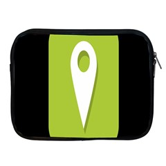 Location Icon Graphic Green White Black Apple Ipad 2/3/4 Zipper Cases by Alisyart