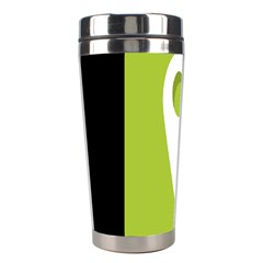 Location Icon Graphic Green White Black Stainless Steel Travel Tumblers by Alisyart