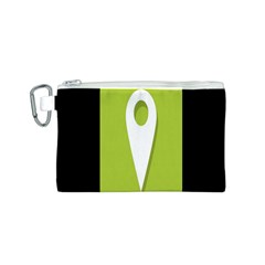 Location Icon Graphic Green White Black Canvas Cosmetic Bag (s) by Alisyart