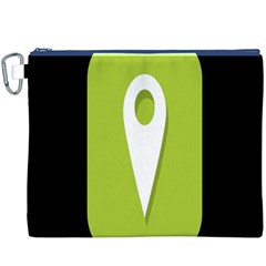 Location Icon Graphic Green White Black Canvas Cosmetic Bag (xxxl) by Alisyart