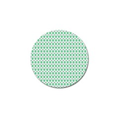 Crown King Triangle Plaid Wave Green White Golf Ball Marker (10 Pack) by Alisyart
