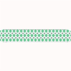 Crown King Triangle Plaid Wave Green White Small Bar Mats by Alisyart