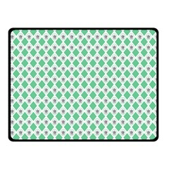 Crown King Triangle Plaid Wave Green White Fleece Blanket (small) by Alisyart