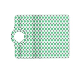 Crown King Triangle Plaid Wave Green White Kindle Fire Hd (2013) Flip 360 Case by Alisyart