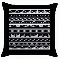 Myria Wrapping Paper Black Throw Pillow Case (black) by Alisyart
