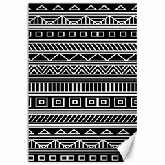 Myria Wrapping Paper Black Canvas 12  X 18   by Alisyart