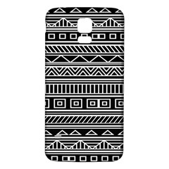 Myria Wrapping Paper Black Samsung Galaxy S5 Back Case (white) by Alisyart
