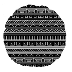 Myria Wrapping Paper Black Large 18  Premium Flano Round Cushions by Alisyart