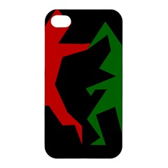 Ninja Graphics Red Green Black Apple Iphone 4/4s Hardshell Case by Alisyart