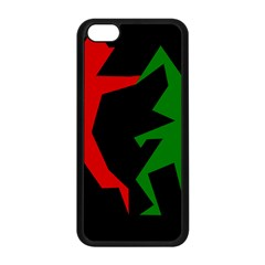 Ninja Graphics Red Green Black Apple Iphone 5c Seamless Case (black) by Alisyart