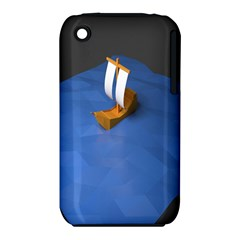Low Poly Boat Ship Sea Beach Blue Iphone 3s/3gs by Alisyart