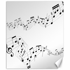 Music Note Song Black White Canvas 20  X 24   by Alisyart