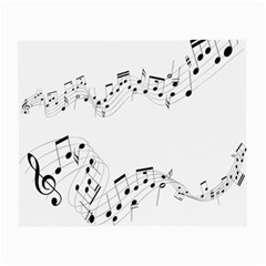 Music Note Song Black White Small Glasses Cloth (2 Side) by Alisyart