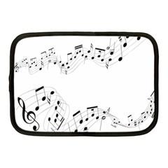 Music Note Song Black White Netbook Case (medium)  by Alisyart