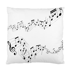 Music Note Song Black White Standard Cushion Case (one Side) by Alisyart