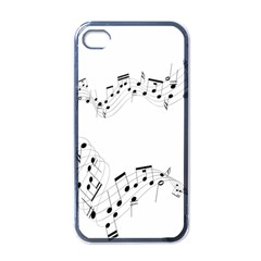 Music Note Song Black White Apple Iphone 4 Case (black) by Alisyart