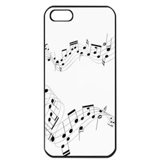 Music Note Song Black White Apple Iphone 5 Seamless Case (black) by Alisyart