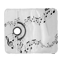 Music Note Song Black White Galaxy S3 (flip/folio) by Alisyart