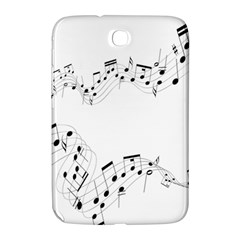Music Note Song Black White Samsung Galaxy Note 8 0 N5100 Hardshell Case  by Alisyart