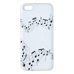 Music Note Song Black White Iphone 5s/ Se Premium Hardshell Case by Alisyart