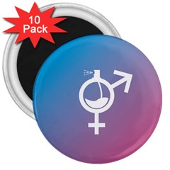 Perfume Graphic Man Women Purple Pink Sign Spray 3  Magnets (10 Pack)  by Alisyart