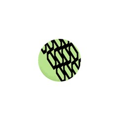 Polygon Abstract Shape Black Green 1  Mini Buttons by Alisyart