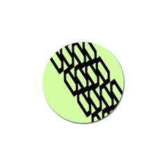 Polygon Abstract Shape Black Green Golf Ball Marker (10 Pack) by Alisyart