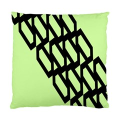 Polygon Abstract Shape Black Green Standard Cushion Case (two Sides) by Alisyart