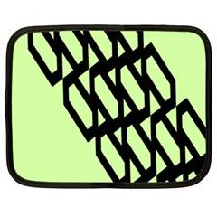 Polygon Abstract Shape Black Green Netbook Case (xxl)  by Alisyart