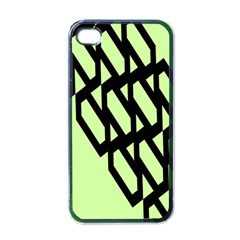 Polygon Abstract Shape Black Green Apple Iphone 4 Case (black) by Alisyart