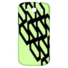 Polygon Abstract Shape Black Green Samsung Galaxy S3 S Iii Classic Hardshell Back Case by Alisyart