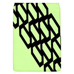 Polygon Abstract Shape Black Green Flap Covers (s)  by Alisyart