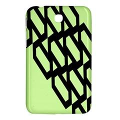 Polygon Abstract Shape Black Green Samsung Galaxy Tab 3 (7 ) P3200 Hardshell Case  by Alisyart