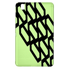 Polygon Abstract Shape Black Green Samsung Galaxy Tab Pro 8 4 Hardshell Case by Alisyart
