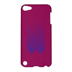 Purple Blue Apple Ipod Touch 5 Hardshell Case by Alisyart