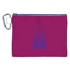 Purple Blue Canvas Cosmetic Bag (xxl) by Alisyart