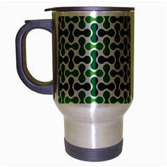 Green White Wave Travel Mug (silver Gray) by Alisyart