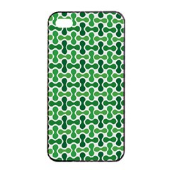 Green White Wave Apple Iphone 4/4s Seamless Case (black) by Alisyart