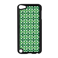 Green White Wave Apple Ipod Touch 5 Case (black) by Alisyart