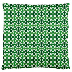 Green White Wave Standard Flano Cushion Case (two Sides) by Alisyart