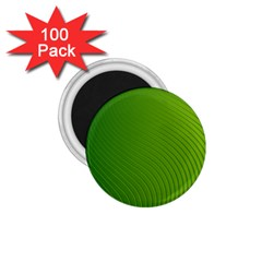 Green Wave Waves Line 1 75  Magnets (100 Pack)  by Alisyart