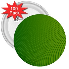 Green Wave Waves Line 3  Buttons (100 Pack)  by Alisyart