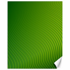 Green Wave Waves Line Canvas 11  X 14   by Alisyart