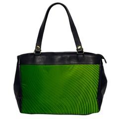 Green Wave Waves Line Office Handbags by Alisyart