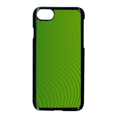 Green Wave Waves Line Apple Iphone 7 Seamless Case (black) by Alisyart