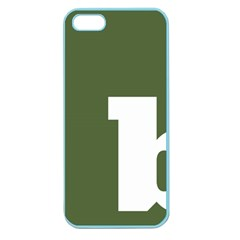 Square Alphabet Green White Sign Apple Seamless Iphone 5 Case (color) by Alisyart